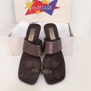 Matisse Bronze Toe Ring Sandals